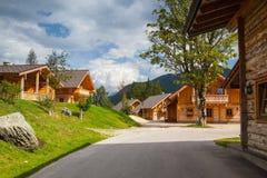 Almwelt Autriche est situé sur les pentes de Pichl photographie stock libre de droits