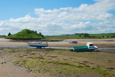 Aln river estuary at Alnmouth Royalty Free Stock Image