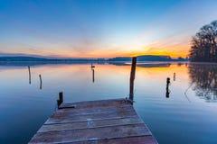 Alndscape del lago ad alba Immagine Stock