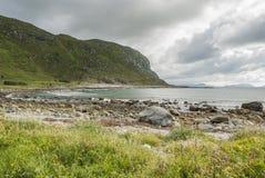 Alnes all'isola di Godoya di estate Immagini Stock Libere da Diritti