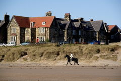Alnmouth actions Royalty Free Stock Photography