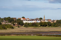 ALNMOUTH, NORTHUMBERLAND/UK - 18 ΑΥΓΟΎΣΤΟΥ: Άποψη της βίλας Alnmouth Στοκ Εικόνες