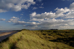 Alnmouth sand dunes Royalty Free Stock Images