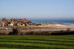 Alnmouth skyscape Royalty Free Stock Photography