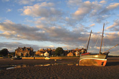 Alnmouth sunset Royalty Free Stock Image