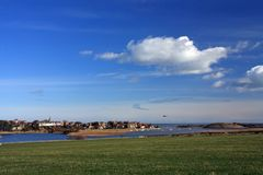 Alnmouth Village and esturary Stock Image