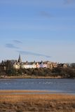 Alnmouth Village and esturary Royalty Free Stock Photos
