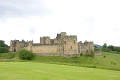 Alnwick Castle 2. View of Alnwick Castle from the East in Northumberland England stock images
