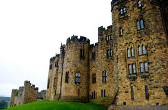 Alnwick Castle. In Northern England was used as the inspiration and filming of Hogwarts School of Witchcraft and Wizardry in the Harry Potter Series Royalty Free Stock Photos