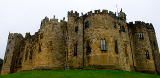 Alnwick Castle. In Northern England was used as the inspiration and filming of Hogwarts School of Witchcraft and Wizardry in the Harry Potter Series Stock Images