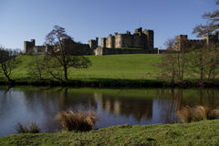 Alnwick castle. From the pastures stock images