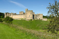 Alnwick Castle across the moat Stock Image