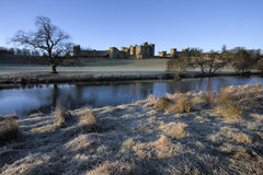 Alnwick castle at dawn Stock Image