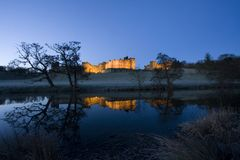 Alnwick castle at dawn Royalty Free Stock Image