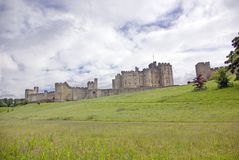 Alnwick Castle from the East. View of Alwick Castle from the East, Northumberland, England royalty free stock photos