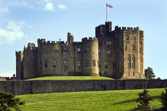 Alnwick Castle - England. Alnwick Castle in the town of Alnwick in Northumberland in North East England. Dates from 1096AD when Yves de Vescy became Baron of Stock Image
