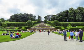 Alnwick Castle Garden, August 2nd, 2016 - in the English county of Northumberland. UK royalty free stock photos