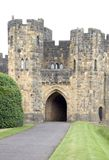 Alnwick Castle Gatehouse. Taken from the old Draw bridge Royalty Free Stock Photos