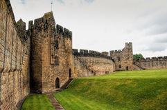 Alnwick Castle. Inside the walls of Alnwick Castle in Northumbria, England. Also famous for Harry Potter films Royalty Free Stock Image