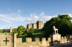 Alnwick Castle from Lion Bridge Stock Images