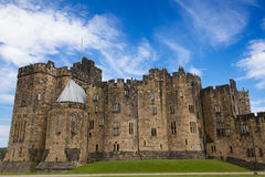 Alnwick Castle, Northumberland. Alnwick Castle, Northumberland - England. Harry Potter Castle Stock Images