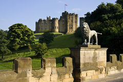 Alnwick Castle in Northumberland - England. Alnwick Castle in the town of Alnwick in Northumberland in North East England. Dates from 1096AD when Yves de Vescy Royalty Free Stock Photo