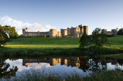 Alnwick Castle reflected Stock Photography