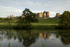 Alnwick Castle and the River Aln Royalty Free Stock Photography