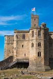 Alnwick Castle scotland united kingdom europe. Alnwick Castle is one of Britain`s most iconic castles. One of the North East and Northumberland top tourism royalty free stock photos