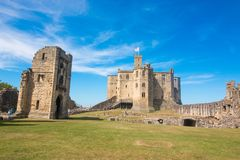 Alnwick Castle scotland united kingdom europe. Alnwick Castle is one of Britain`s most iconic castles. One of the North East and Northumberland top tourism stock photography