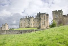 Alnwick Castle State Rooms. View of the State rooms building at Alnwick Castle Northumberland,England Stock Photos