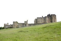 Alnwick Castle view from the base of the Hill 2. View looking up at Alnwick Castle Northumberland England royalty free stock photo