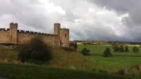 1309 Alnwick diuków England księcia zamek do większego zamieszkiwał Northumberland percy jest drugi Zdjęcie Royalty Free
