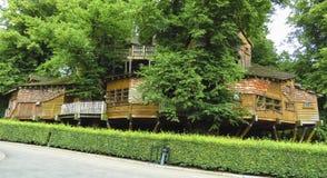Alnwick domek na drzewie, Alnwick ogród w Angielskim okręgu administracyjnym Northumberland, Fotografia Stock