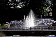 Alnwick Garden grand cascade. Northumberland stock photo
