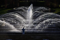Alnwick Garden grand cascade Stock Photo