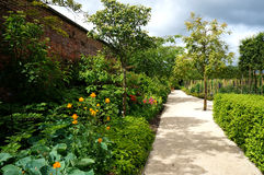 Alnwick garden pathway Royalty Free Stock Photography