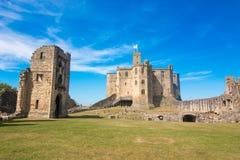 Alnwick Kasteel Schotland het Verenigd Koninkrijk Europa stock afbeeldingen