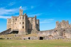 Alnwick kasztelu Scotland zlany królestwo Europe zdjęcia royalty free