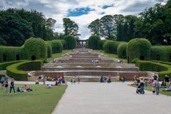 Alnwick, le Northumberland R-U - 31 juillet 2018 : Jardin d'Alnwick - a photo stock