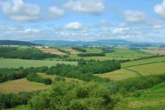 Alnwick moor Edlingham in Northumberland England. Panorama Alnwick Moor & countryside in Northumberland Stock Photos