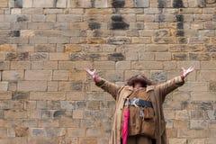 ALNWICK, NORTHUMBERLAND/UK - 19 AGOSTO: Intrattenere di Hagrid Immagini Stock