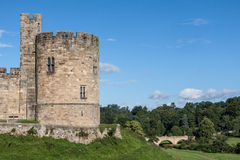 ALNWICK, NORTHUMBERLAND/UK - AUGUST 19 : View of the Castle in A Stock Image