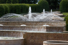 ALNWICK, NORTHUMBERLAND/UK - AUGUST 19 : Water feature in Alnwic Royalty Free Stock Photography