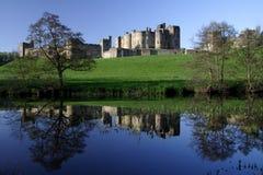 alnwick slott Arkivfoto