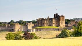 Alnwick slott Arkivbilder