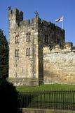 Alnwick slott - Northumberland - England Royaltyfri Fotografi