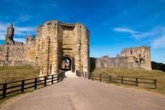 Alnwick slott Skottland Förenade kungariket Europa arkivfoto