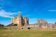 Alnwick slott Skottland Förenade kungariket Europa fotografering för bildbyråer