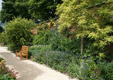 Alnwick trädgårdbana Arkivbild